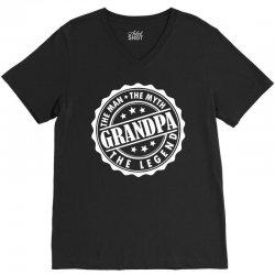Grandpa The Man The Myth The Legend V-Neck Tee   Artistshot