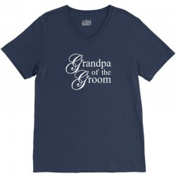 Grandpa of the groom V-Neck Tee | Artistshot