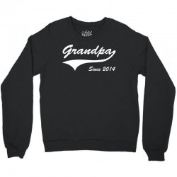 Grandpa since 2014 Crewneck Sweatshirt   Artistshot