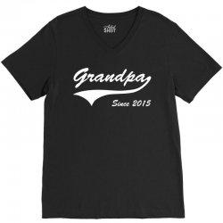 Grandpa since 2015 V-Neck Tee | Artistshot