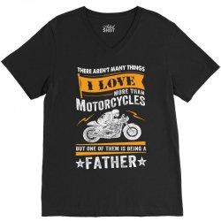 Motorcycles Father V-Neck Tee | Artistshot