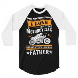 Motorcycles Father 3/4 Sleeve Shirt | Artistshot