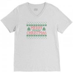 Merry Freaking Christmas V-Neck Tee | Artistshot