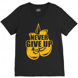 Never Give Up Appendix Cancer Awareness V-Neck Tee   Artistshot