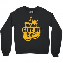Never Give Up Appendix Cancer Awareness Crewneck Sweatshirt   Artistshot