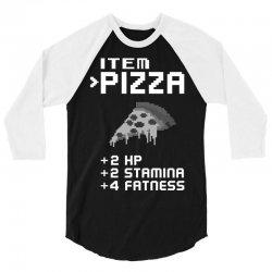 Facts Of Pizza 3/4 Sleeve Shirt   Artistshot