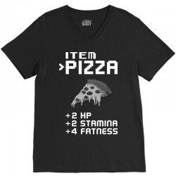 Facts Of Pizza V-Neck Tee   Artistshot