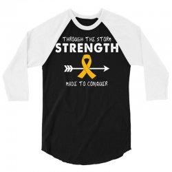 Through The Storm Strength Made To Conquer 3/4 Sleeve Shirt | Artistshot