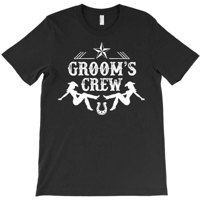 Old West Bachelor Party - Groom's Crew Version T-shirt   Artistshot
