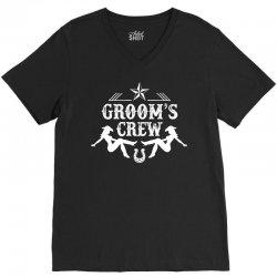 Old West Bachelor Party - Groom's Crew Version V-Neck Tee   Artistshot