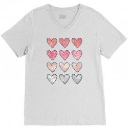 Hearts V-Neck Tee | Artistshot