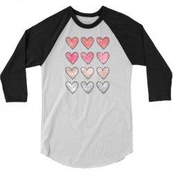 Hearts 3/4 Sleeve Shirt | Artistshot