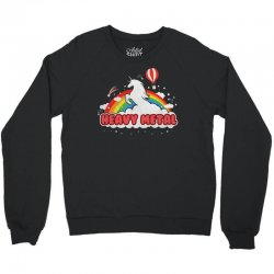 Heavy Metal Unicorn Rainbow Crewneck Sweatshirt | Artistshot