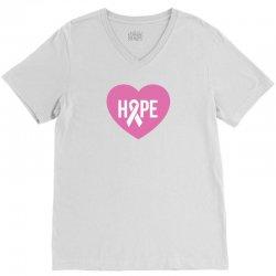 Hope. Breast Cancer Awareness V-Neck Tee   Artistshot