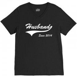 Husband Since 2014 V-Neck Tee   Artistshot