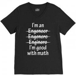I Am Good With Math V-Neck Tee | Artistshot