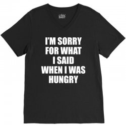 I am Sorry For What I Said When I Was Hungry V-Neck Tee | Artistshot