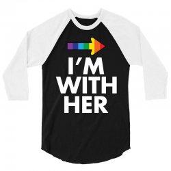 I Am With Him 3/4 Sleeve Shirt | Artistshot