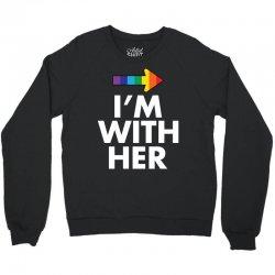 I Am With Him Crewneck Sweatshirt | Artistshot