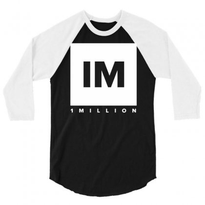 1 Million Dance Studio 3/4 Sleeve Shirt Designed By Mdk Art