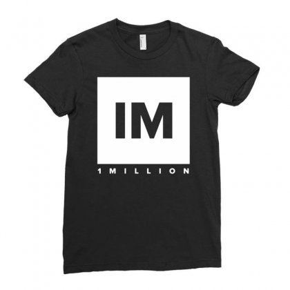1 Million Dance Studio Ladies Fitted T-shirt Designed By Mdk Art