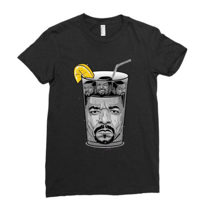 Lemon Ice T & Ice Cube Ladies Fitted T-shirt Designed By Feniavey