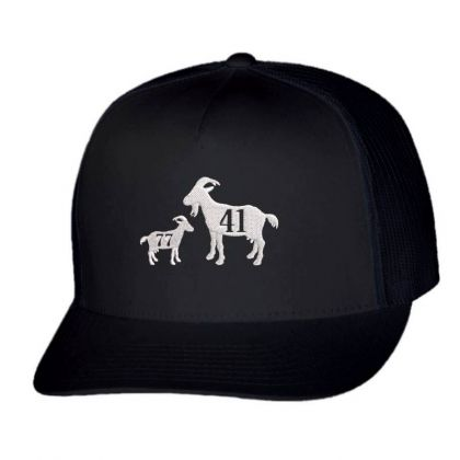 The Goat Dirk Nowitzki And Luka Doncic  Embroidered Hat Trucker Cap Designed By Madhatter