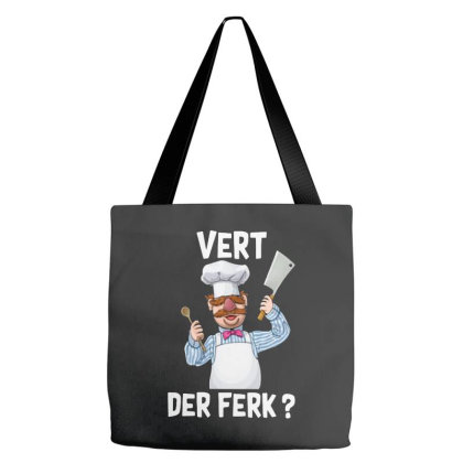 Vert Der Ferk   The Swedish Chef Tote Bags Designed By Cahyorin