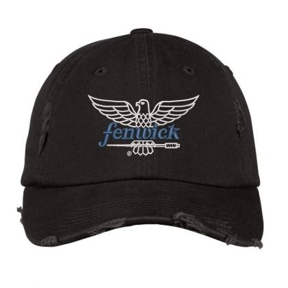 Fenwick Fishing Rods Embroidered Hat Distressed Cap Designed By Madhatter