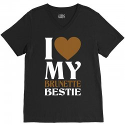 I Love My Blonde Bestie - I Love My Brunette Best V-Neck Tee | Artistshot