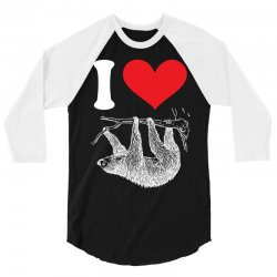 I HEART SLOTH 3/4 Sleeve Shirt | Artistshot