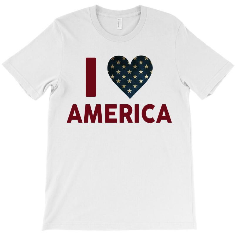 I Love America T-shirt   Artistshot