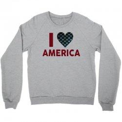 I Love America Crewneck Sweatshirt   Artistshot