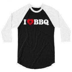 I love BBQ 3/4 Sleeve Shirt   Artistshot