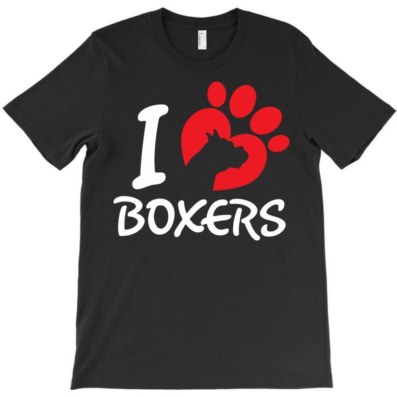 I Love Boxers T-shirt | Artistshot