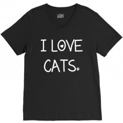 I Love Cats V-Neck Tee | Artistshot