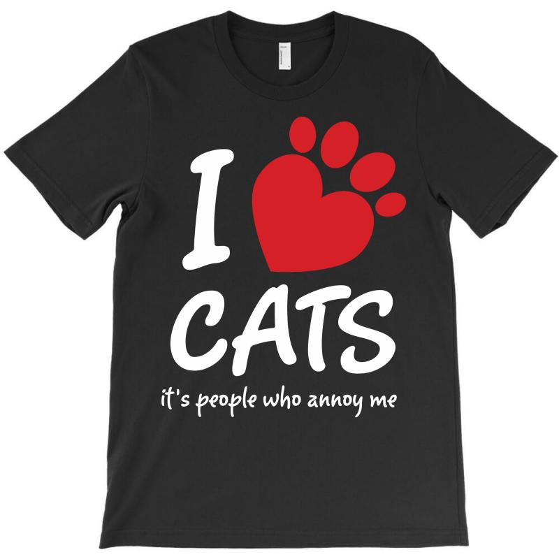 I Love Cats Its People Who Annoy Me T-shirt | Artistshot