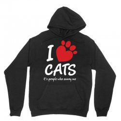 I Love Cats Its People Who Annoy Me Unisex Hoodie | Artistshot