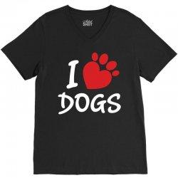 I Love Dogs V-Neck Tee   Artistshot