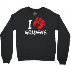 I Love Goldens Crewneck Sweatshirt | Artistshot