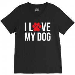 I Love My Dog V-Neck Tee | Artistshot