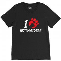 I Love Rottweilers V-Neck Tee | Artistshot