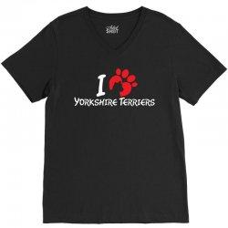 I Love Yorkshire Terriers V-Neck Tee | Artistshot