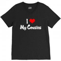 I Heart My Cousins V-Neck Tee | Artistshot