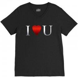 I love u heart V-Neck Tee | Artistshot