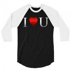 I love u heart 3/4 Sleeve Shirt | Artistshot