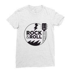 Rock & Roll Ladies Fitted T-Shirt | Artistshot