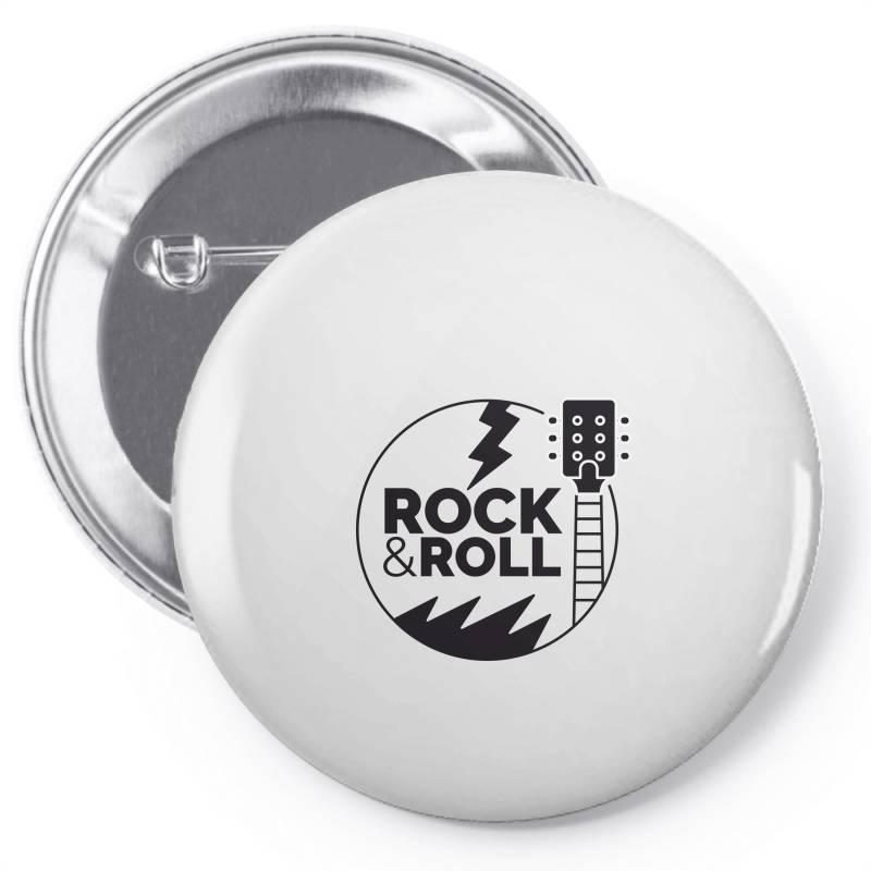 Rock & Roll Pin-back Button   Artistshot
