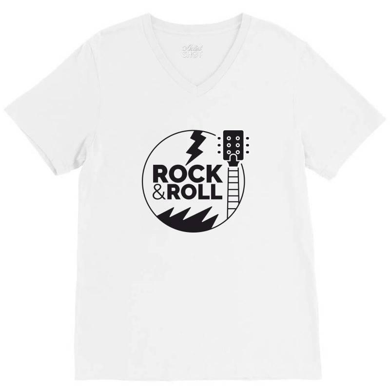 Rock & Roll V-neck Tee | Artistshot