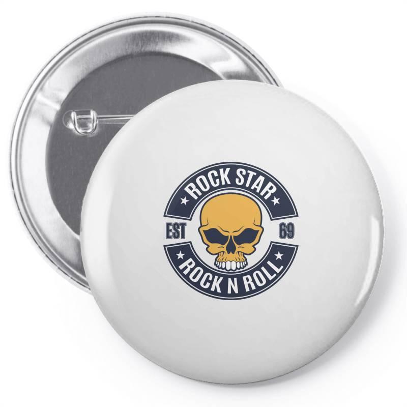 Rock Star   Rock N Roll Pin-back Button | Artistshot